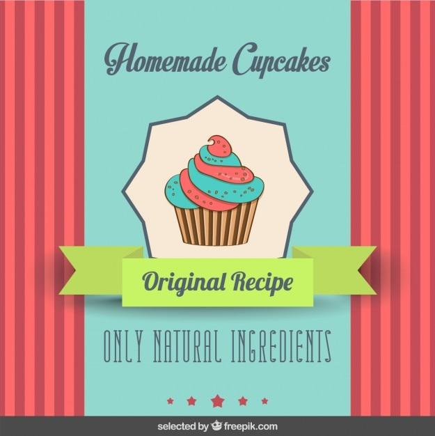 Flyer petit gâteau mignon Vecteur gratuit