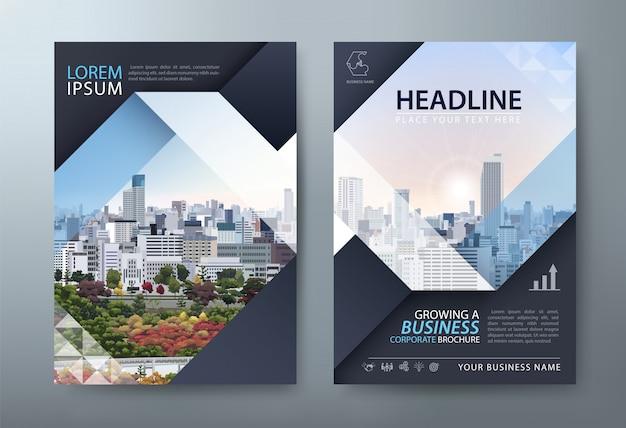 Flyer, Présentation Du Dépliant, Modèles De Couverture De Livre, Mise En Page Au Format A4. Vecteur Premium