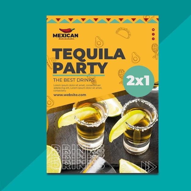 Flyer Restaurant Mexicain Vertical Vecteur gratuit