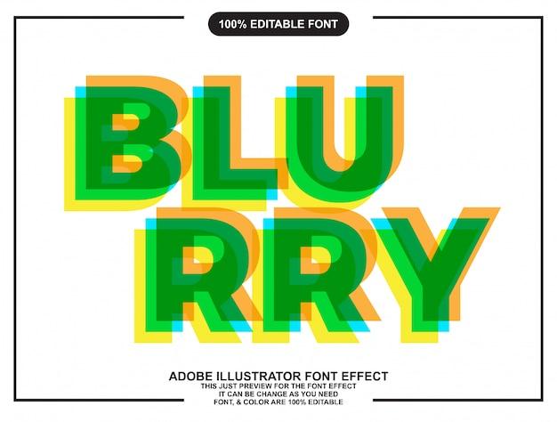 Focus modifiable surimpression effet de police typographique Vecteur Premium
