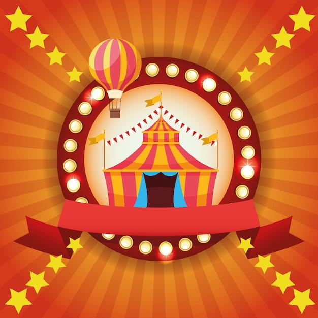Foire du cirque Vecteur gratuit