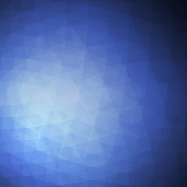 Foncé fond polygonale bleu Vecteur gratuit
