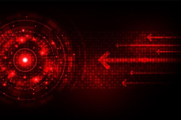Fonctionnement rapide des systèmes numériques. Vecteur Premium