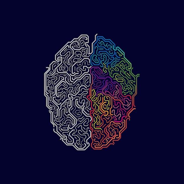 Fonctions cérébrales Vecteur Premium