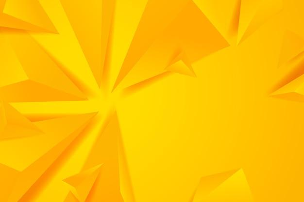 Fond 3d Polygonal Avec Des Tons Monochromes Jaunes Vecteur Premium