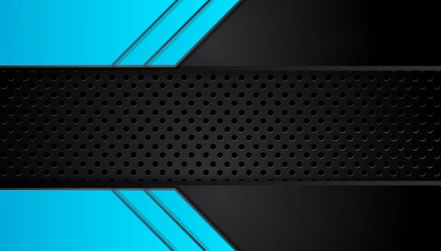Fond abstrait affaires bleu et noir Vecteur Premium
