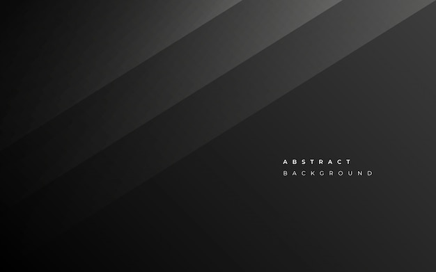 Fond abstrait affaires noir minimaliste Vecteur gratuit