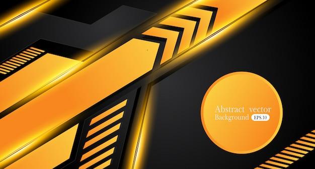 Fond abstrait affaires orange jaune et noir. conception de vecteur. Vecteur Premium