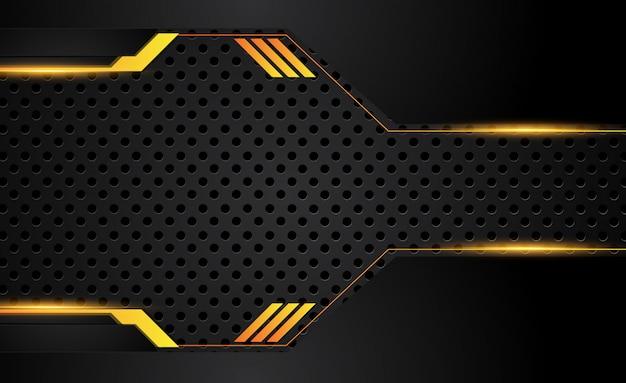Fond abstrait affaires orange jaune et noir Vecteur Premium
