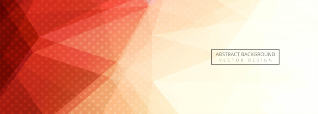 Fond Abstrait Bannière Polygone Coloré Vecteur gratuit