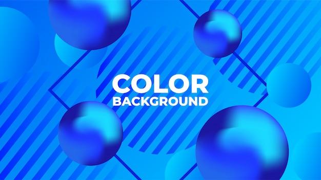 Fond abstrait bleu sphère fluide Vecteur Premium