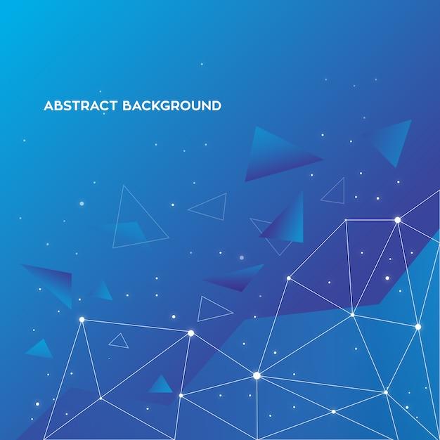 Fond abstrait bleu Vecteur gratuit