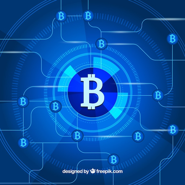 Fond abstrait de blockchain Vecteur gratuit