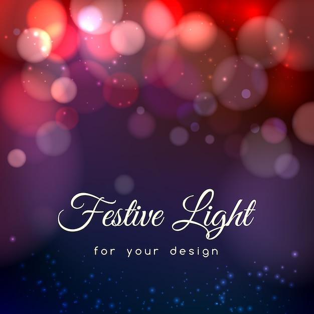 Fond Abstrait Bokeh Magique. Effet Lumière Floue, Espace énergétique, Vecteur gratuit