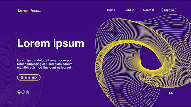 Fond abstrait couleur jaune violet pour la page d'accueil Vecteur Premium