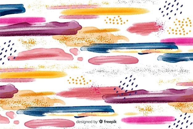Fond abstrait coups de pinceau coloré Vecteur gratuit