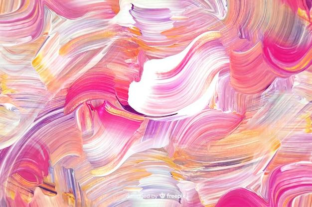 Fond abstrait coups de pinceau peint Vecteur gratuit