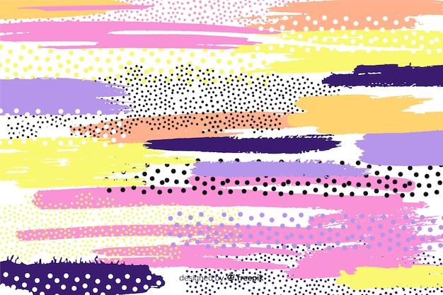 Fond Abstrait Coups De Pinceau Vecteur gratuit