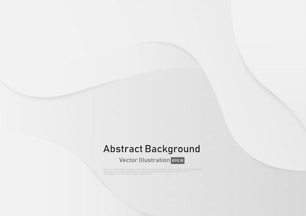 Fond abstrait courbe de couleur dégradé blanc et gris. Vecteur Premium