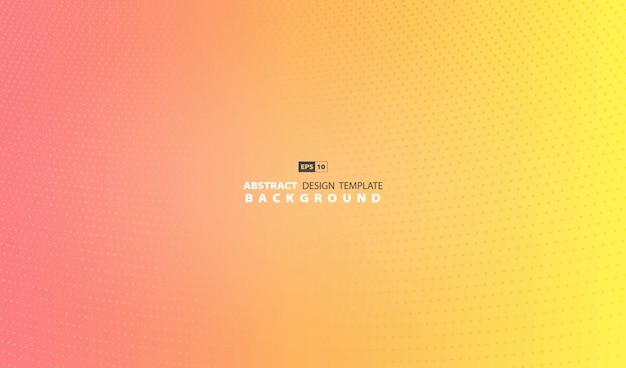 Fond abstrait décoration dégradé rose et jaune. Vecteur Premium