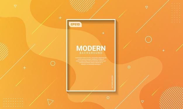 Fond abstrait dégradé de formes géométriques Vecteur Premium