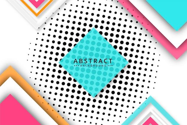 Fond Abstrait Demi-teinte Avec Des Points Vecteur gratuit