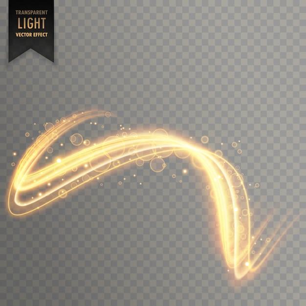 Fond abstrait effet de lumière dorée Vecteur gratuit