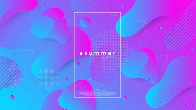 Fond abstrait de l'été Vecteur Premium