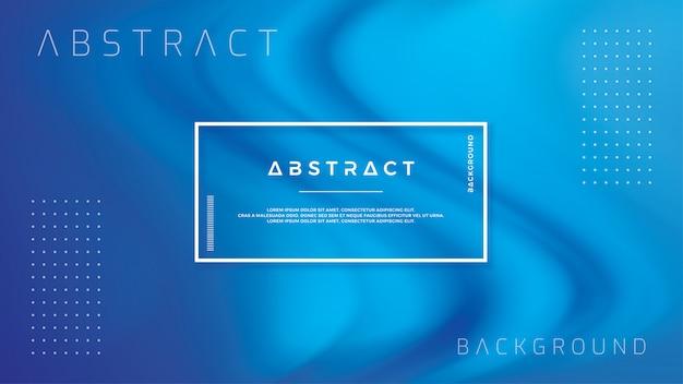 Fond abstrait flux de flux avec la couleur bleue. Vecteur Premium