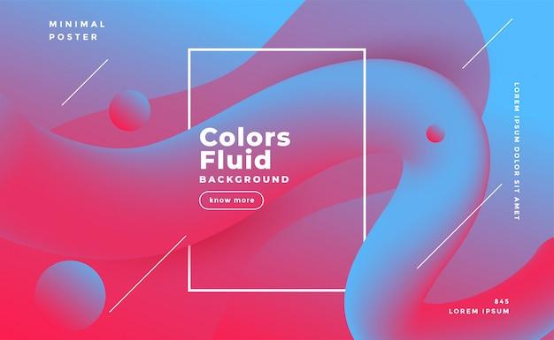 Fond abstrait forme fluide en couleurs bicolores Vecteur gratuit