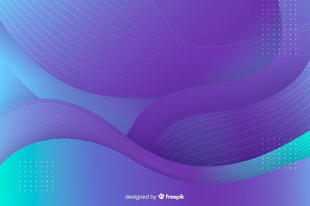 Fond abstrait formes colorées Vecteur gratuit