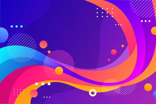 Fond Abstrait De Formes Colorées Vecteur gratuit