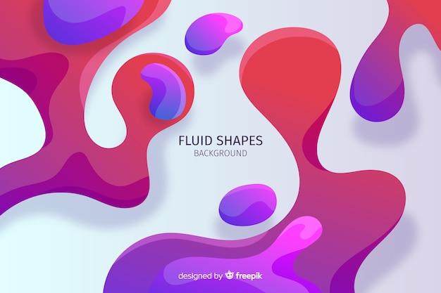 Fond abstrait formes fluides Vecteur gratuit