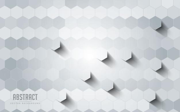 Fond abstrait géométrique couleur gris et blanc. Vecteur Premium