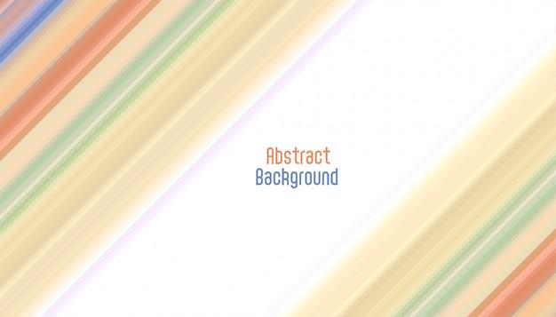 Fond Abstrait Lignes Diagonales élégantes Vecteur gratuit