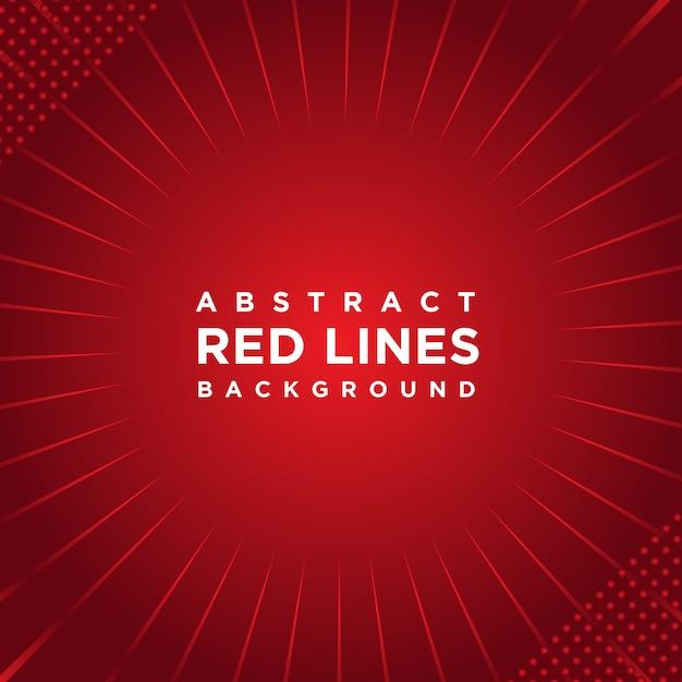 Fond abstrait lignes rouges Vecteur Premium
