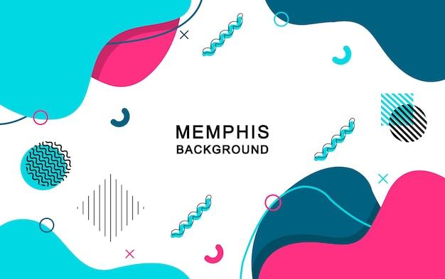 Fond Abstrait De Memphis Avec Des éléments Géométriques. Vecteur Premium