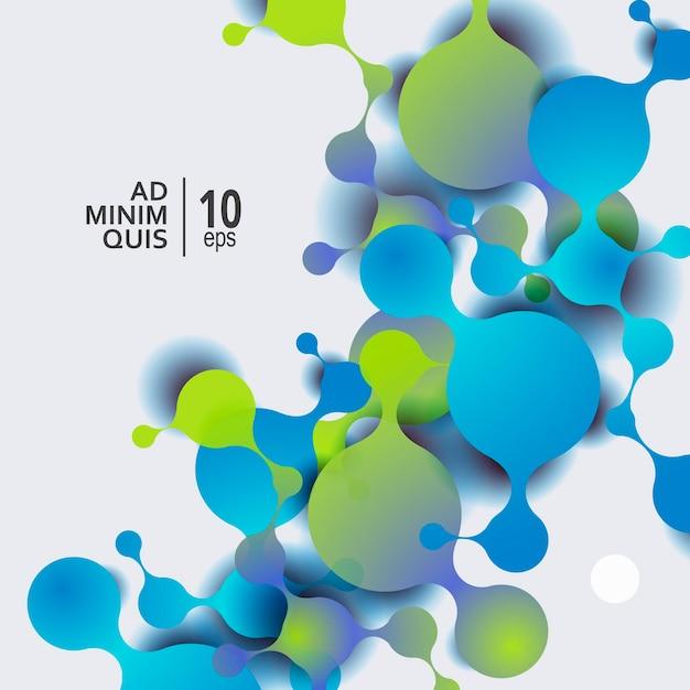 Fond Abstrait De Molécules Avec Des Cellules Vecteur Premium