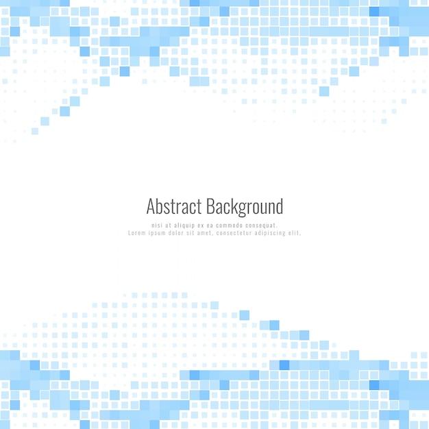 Fond abstrait mosaïque bleue moderne Vecteur gratuit