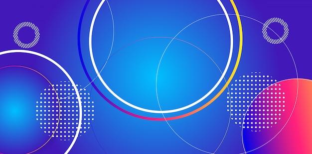 Fond abstrait motif circulaire Vecteur Premium