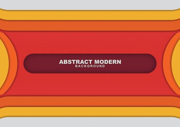 Fond abstrait orange avec couleur de forme Vecteur Premium