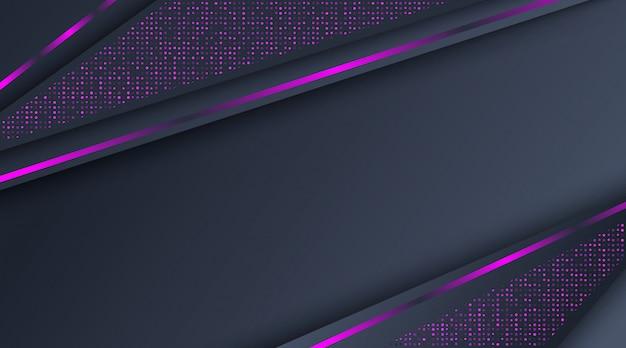 Fond abstrait paillettes violet néon foncé Vecteur Premium