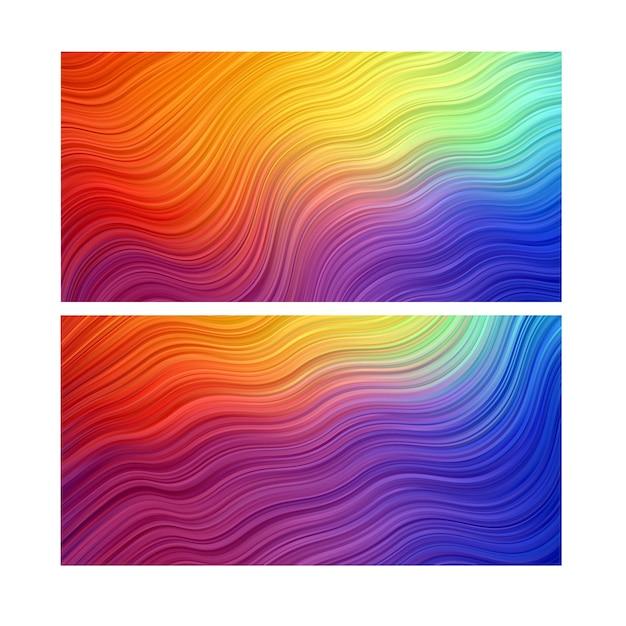 Fond Abstrait. Papier Peint à Rayures. Bannière Colorée Vecteur Premium