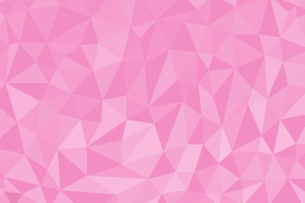 Fond abstrait polygone de couleur rose Vecteur Premium