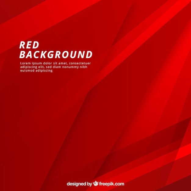 Fond Abstrait Rouge Vecteur gratuit