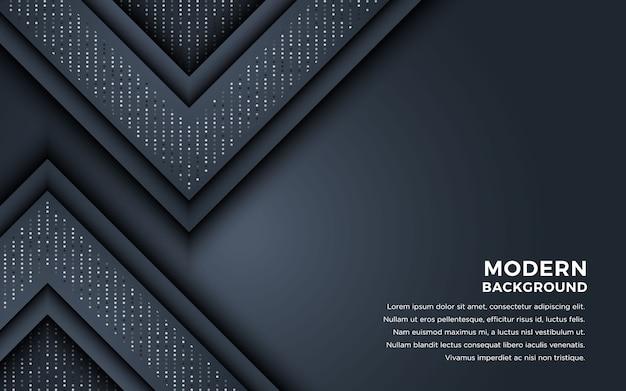 Fond abstrait sombre avec des couches de chevauchement et des paillettes Vecteur Premium