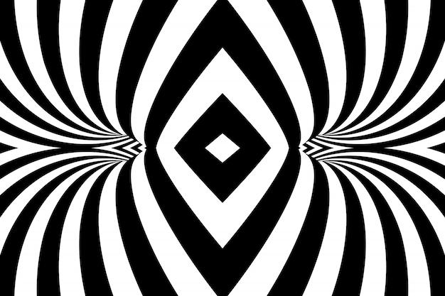 Fond Abstrait Spirale Rayée Vecteur Premium