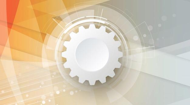 Fond abstrait de la technologie direction des affaires et du développement Vecteur Premium