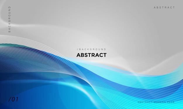 Fond abstrait technologie ondulée Vecteur Premium