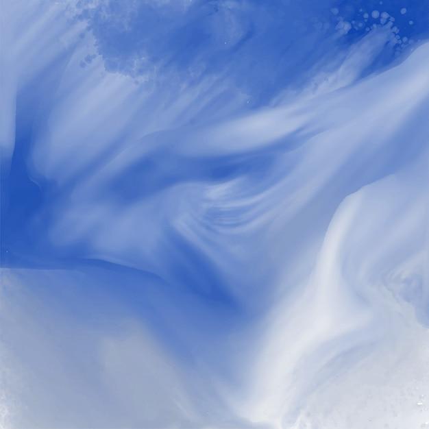 Fond abstrait texture aquarelle bleue Vecteur gratuit